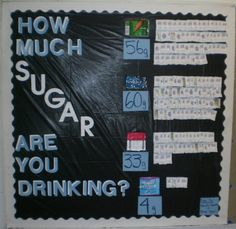 This is a very good visual, but the ratio of grams to packets of sugar is not 1:1, but 4:1. So those piles of sugar packets need to be divided by 4.