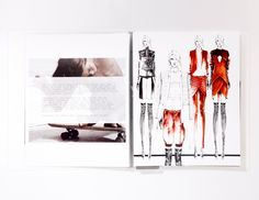 Trendy ideas for fashion sketchbook layout inspiration student portfolios Portfolio Mode, Portfolio Layout, Template Portfolio, Portfolio Examples, Fashion Sketchbook, Fashion Sketches, Fashion Drawings, Dress Sketches, Fashion Illustration Collage
