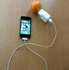 Phone charging with fruits!