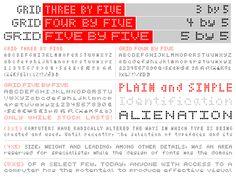 5x5 dot matrix font - Google Search