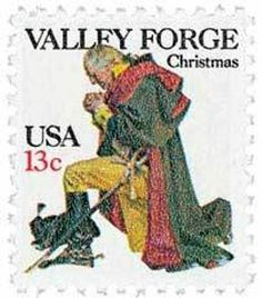 1977 13c Washington Christmas, Valley Forge Scott 1729 Mint F/VF NH  www.saratogatrading.com