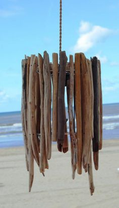 Outdoor furniture DIY Driftwood lamp maritime-style