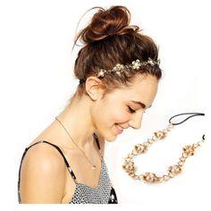 Elastic-Gold-Silver-Headband-Head-Chain-Women-Hair-Band-Metal-Pearl-Flower