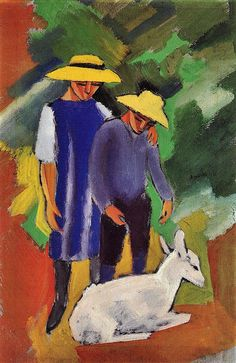 August Macke - Children with goat by petrus agricola