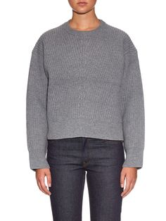 Java zip-detail wool-knit sweater | Acne Studios | MATCHESFASHION.COM UK