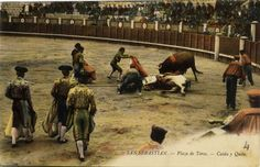San Sebastián : plaza de toros : caída y quite, 19--?