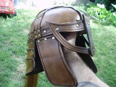 Armor set ''The rider'', leather helmet by ~marcuslerenard on deviantART