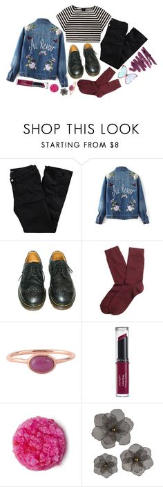 """""""Untitled #600"""" by mojojojo12 ❤ liked on Polyvore featuring Alice + Olivia, H&M, Dr. Martens, Brooks Brothers, Lola Rose and Revlon"""