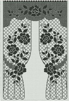 Home Decor Pictures Crochet Curtain Pattern, Free Crochet Doily Patterns, Crochet Doily Diagram, Crochet Bikini Pattern, Crochet Symbols, Filet Crochet Charts, Bobbin Lace Patterns, Crochet Curtains, Crochet Tablecloth