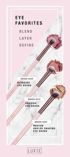 The must have eye brushes to create that #MOTD