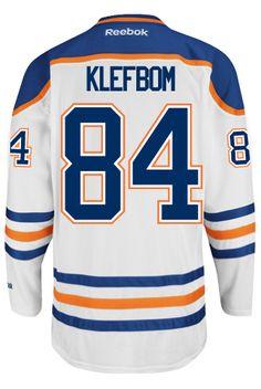 266c69307 Edmonton Oilers Nail YAKUPOV  64 Official Away Reebok Premier Replica NHL  Hockey Jersey (HAND