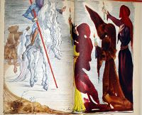 """""""Don Quijote de la Mancha"""". Versión Ilustrada por Salvador Dalí en tinta china y acuarela sobre papel para el libro editado en Nueva York por Random House (1946)"""