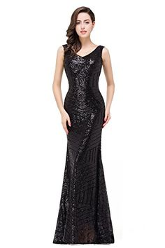 Babyonline Sequin Mermaid Semi Formal Dresses Sleeveless Cocktail Gowns -- Read more  at the image link.