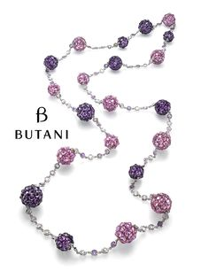 Butani Jewellery Pink sapphires and purple amethyst accented with diamonds.