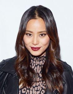 Loving Jamie Chung's vampy red lip