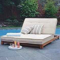 Outdoor Chaise Futon Double Lounge Loungers Seating