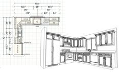 New kitchen layout small floor plans bath 63 ideas Kitchen Layout Plans, Kitchen Floor Plans, Kitchen Flooring, Kitchen Ideas, Kitchen Inspiration, Kitchen Decor, Apartment Therapy, Layout Design, Design Ideas