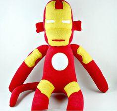 Tony the Iron Man Sock Monkey Made to order by YouMakeMeMe Cute Socks, Odd Socks, Sock Crafts, Fabric Crafts, Monkey World, Sock Monster, Sock Toys, Sock Animals, Homemade Toys