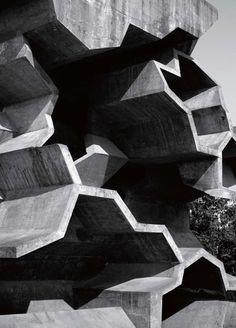 Beautiful brutalist architecture. Location unknown