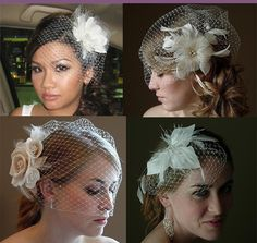 Birdcage Veils...gotta learn how to make this, just can't decide if I want to keep it simple or get a little dramatic with it.