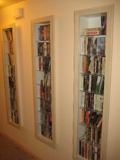 shelves in between studs LOVE THIS for bedrooms for the kids