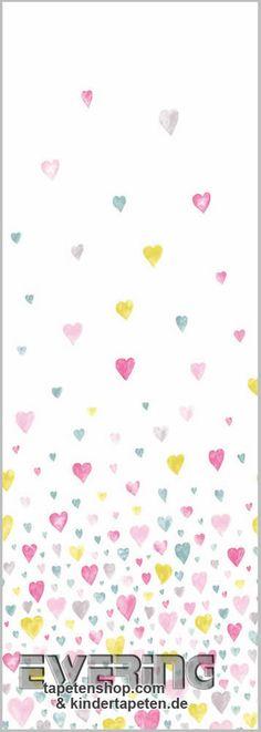 Casadeco Alice & Paul 36-AEP28182029 Wandbild Herzen rosa-blau