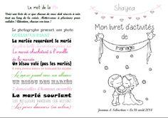 Livret de jeux activités mariage home made (7/10 ans