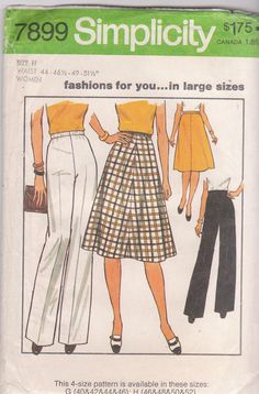 2023859144d36 Vintage 1970s plus size A line skirt and wide by beththebooklady