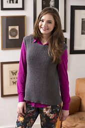 Ravelry: Twisted Rib Vest pattern by Cathy Payson US 8 Needles