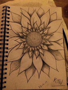 Sunflower sketch | always turn your face to the sun ☀️ KTNart