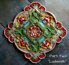 Transcendent Crochet a Solid Granny Square Ideas. Inconceivable Crochet a Solid Granny Square Ideas. Motif Mandala Crochet, Crochet Square Patterns, Crochet Motifs, Crochet Blocks, Crochet Squares, Crochet Blanket Patterns, Crochet Designs, Crochet Stitches, Knit Crochet
