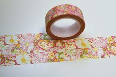 Washi Masking Tape BLUMEN rosa gelb grün  von washitapes auf DaWanda.com