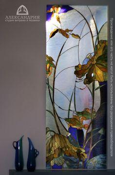 particiones de cristal de colores en base a la pintura china, estudio privado, Moscú