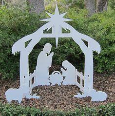 Christmas Holiday Outdoor Set Lawn Nativity Yard Scene Manger