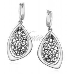 Srebrne kolczyki pr.925 ażurowe - Biżuteria srebrna dla każdego tania w sklepie internetowym Rejel