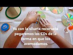 DIY como hacer un marco con teselas de cd reciclados - YouTube