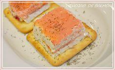 Milhojas de salmónahumado