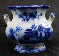 flow blue sugar bowl | Antique Flow Blue Sugar Bowl Indian Pattern ... | Flow Blue ~ Flo Blue