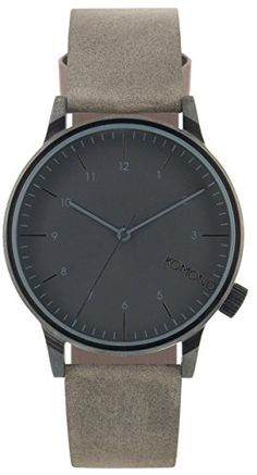 KOMONO Winston Regal Quartz Stainless Steel and Leather Dress Watch ColorGrey Model KOMW2256 -- You can get additional details at the image link.