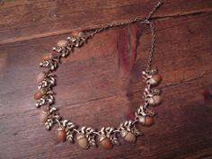 Vintage Coro Thermoset  Acorn Necklace  #Coro