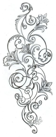 Floral Pattern Tattoos Stock Vector Artistic Tattoo Picture this would be great for my hip tattoo too Kunst Tattoos, Bild Tattoos, Neue Tattoos, Body Art Tattoos, Sleeve Tattoos, Tatoos, Skull Tattoos, Henna Sleeve, Henna Tattoos