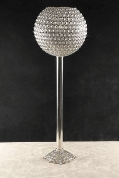 "31-1/2"" Diamond Pedestal Candle Holders"