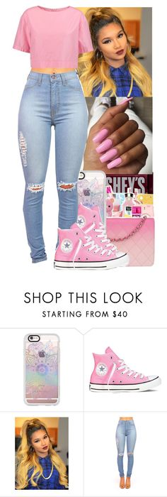 """The Color PINK"" by jasmine1164 ❤ liked on Polyvore featuring Hershey's, Casetify, Converse and Marni"