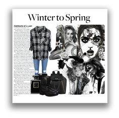 """""""Winter to Spring"""" by aniyah-xxxx ❤ liked on Polyvore featuring Frame Denim, Givenchy, Chanel, Calvin Klein, Steve Madden, Hogan, CasualChic and spring2016"""