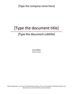 abstract title page