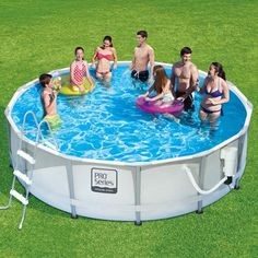 """Summer Waves ProSeries 14' x 42"""" Premium Frame Above Ground Swimming Pool with Deluxe Accessory Set - Walmart.com"""