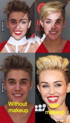 Miley alike cyrus and look bieber Justin
