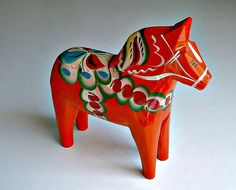 Nils Olsson Dala Horse Orange Scandinavian by ClassicMemories