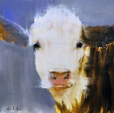 "Caroline by Elsa Sroka Oil ~ 10"" x 10"""
