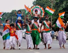 Independence Day celebrations in Bhubaneswar, India.